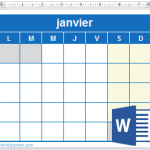 Calendrier hivernal 2018